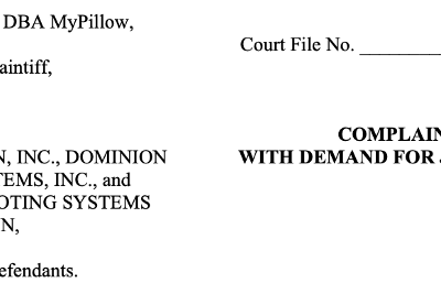 Mike Lindell Finally Files His Lawsuit Against Dominion.