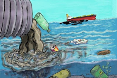 Water pollution threatens us