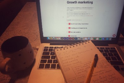 Crashing into growth marketing: a CEO journey. Weekly review, part 1.