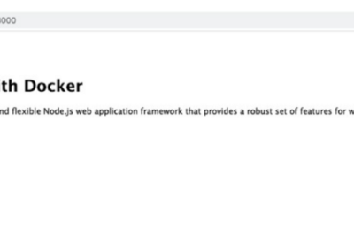 Docker – Creating node.js docker file, Production ready multistage microservice container