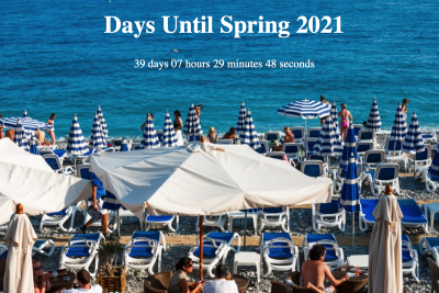 Silly countdown to spring with jQuery