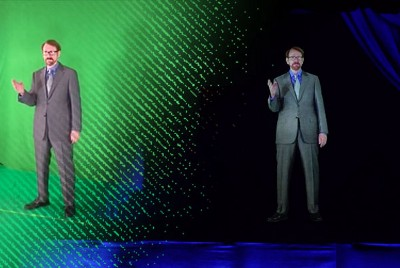 Life-Size Hologram for Speakers, Educators, and Entertainers