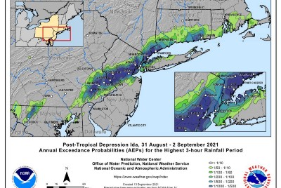 Very Soggy First Half of September in Much of Northeast