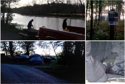 Camping is great, but…