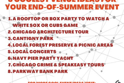 8 Coolest Venue Ideas for Your End-of-Summer Event