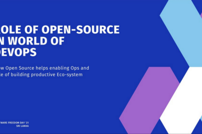 Role of Open-Source in World of DevOps—Talk at Software Freedom Day 2021