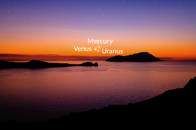 Try to spot Venus, Mercury, and Uranus tonight!