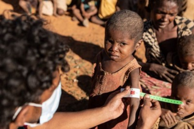 Madagascar is on the verge of famine due to climate change.