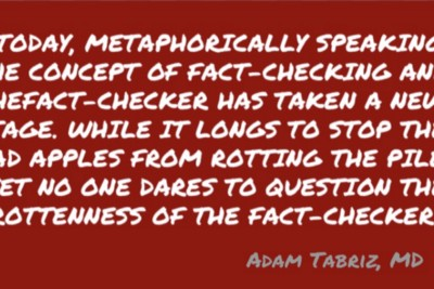 """""""TODAY, METAPHORICALLY SPEAKING, THE CONCEPT OF FACT-CHECKING AND THE FACT-CHECKER HAS TAKEN A NEW…"""