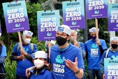 Amazon touts Climate Pledge Arena, but what about its massive cargo shipping footprint?