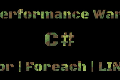 Performance Wars—Cycles—C#
