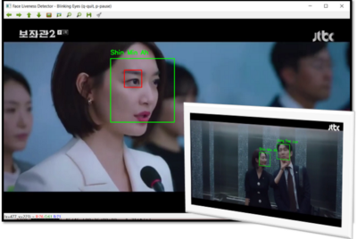Face Liveness Detection through Blinking Eyes