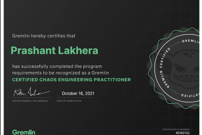 My road to Gremlin Chaos Engineering Practitioner Certificate