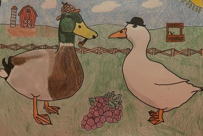 Sherduck Holmes and the Missing Grapes