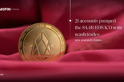 New research claims 21 accounts pumped the $4.4B EOS ICO with wash trades