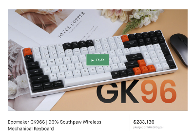 Epomaker GK96S. Review of a good and affordable mechanical keyboard