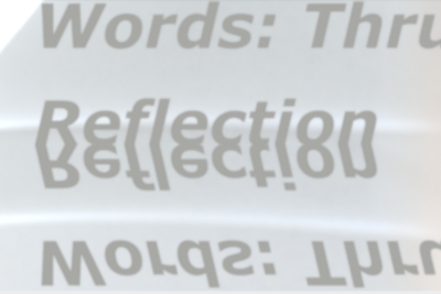What words are a reflection, sentient, that signal or play the reveille/the land-shaped…