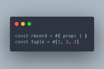 TC39 proposal: Record and Tuples, the real immutable data structures in JavaScript.
