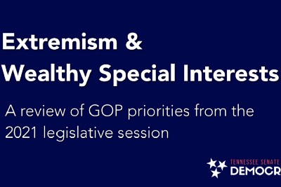 Extremism & wealthy special interests:  A review of GOP priorities in the latest legislative…