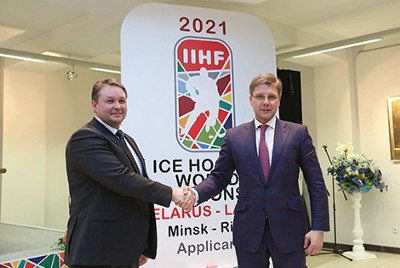 Latvia asks Belarus be dropped from hosting joint World Hockey Championship