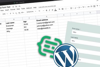 Submitting data to Google Sheets through a form embedded in WordPress