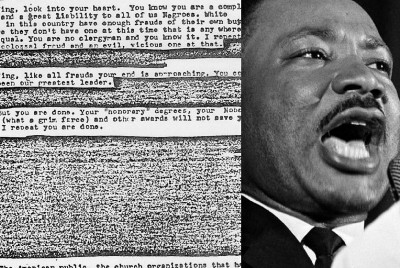 When the FBI sent a letter to Martin Luther King persuading him to kill himself.