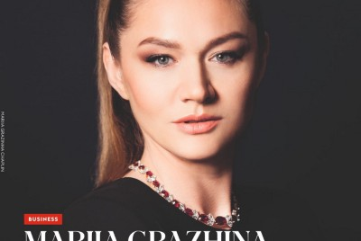 Mariia Grazhina Chaplin at the Cover of the Forbes
