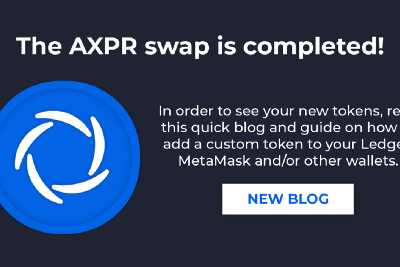 The AXPR Token Swap—Completed!