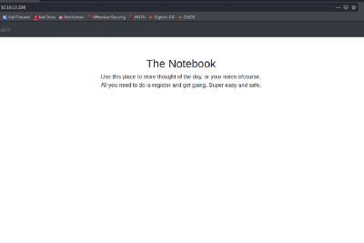 Hack The Box—The Notebook