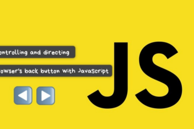 Controlling and directing browser's back button with JavaScript