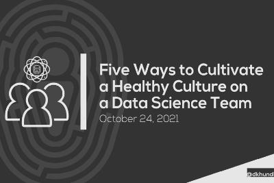 Five Ways to Cultivate a Healthy Culture on a Data Science Team