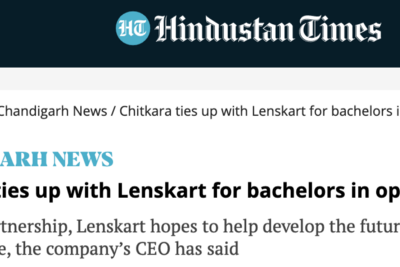 Chitkara University launches 4-Year Bachelors in Optometry course in collaboration with Lenskart