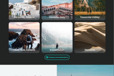 Design project: travel website and app
