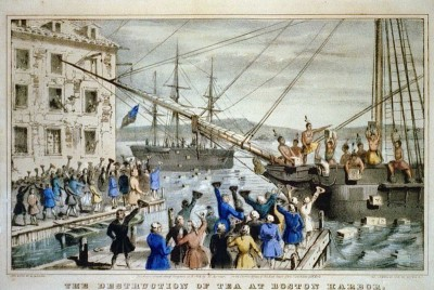 OTD in History December 16, 1773, American Colonists protest the Tea Act with the Boston Tea Party