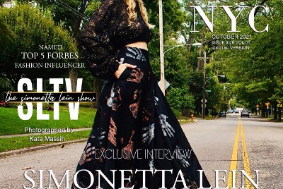 Forbes Top 5 Fashion Influencer Simonetta Lein Featured On Cover Of Fashion Magazine NYC October…