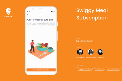 Subscribed to Swiggy: How we designed a new feature for Swiggy in 6 days.