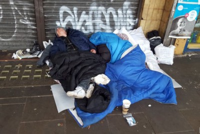 Charities combatting homelessness epidemic in COVID pandemic.