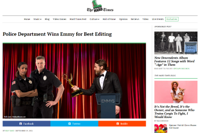 Police Department Wins Emmy for Best Editing