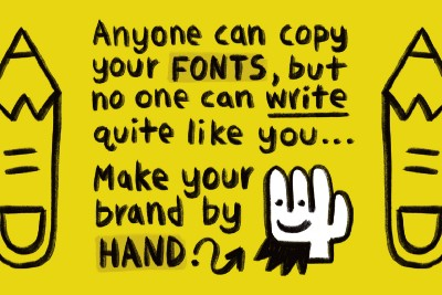 Fonts vs Handwriting (Why You Should Make Your Brand By Hand)