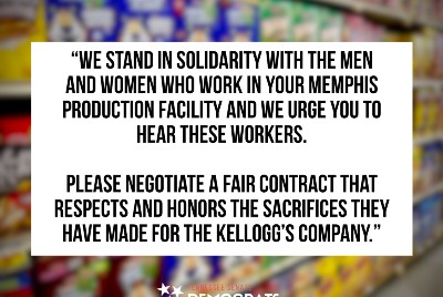 Tenn. lawmakers show support for Memphis workers in Kellogg's strike