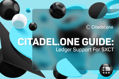 Citadel.one Guide: Ledger Support for $XCT