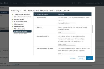 Deploying HA Proxy on vSphere 7 with Tanzu Kubernetes Grid Service (TKGS)