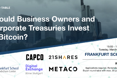 """Round Table """"Should Business Owners and Corporate Treasuries Invest in Bitcoin?"""" on March 23, 2021"""