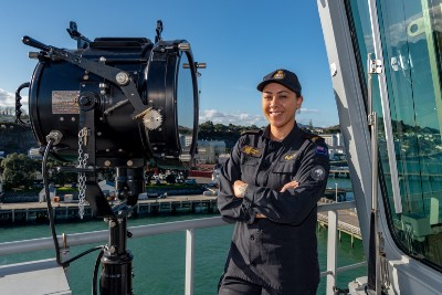 Northland woman eager to serve on Navy's biggest-ever ship