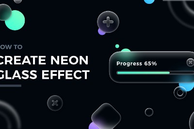 New Glassmorphism? How to Create Neon Glass Effect UI Design
