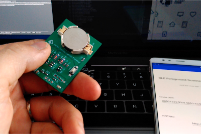 BLE nRF52 remote control—Android receiver service