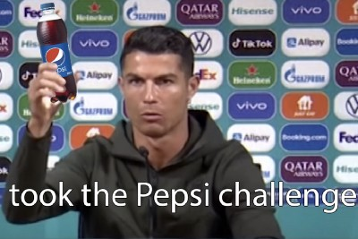 Be like water…or Ronaldo. Just not Coca-Cola.