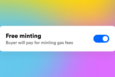 Create NFTs for free on Rarible.com via a new lazy minting feature
