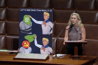 What Did Marjorie Taylor Greene Bring to the House Floor? A Scooby Doo Meme.