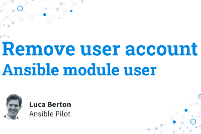 Remove user account — Ansible module user